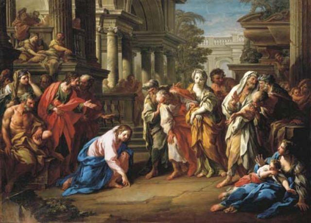 woman-caught-in-adultery-sebastiano-conca-1741